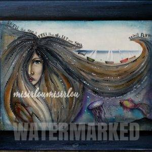 whimsical mermaid by misirloumisirlou