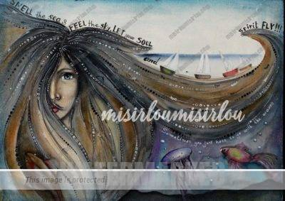 Whimsical Mermaid Art